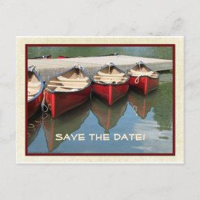 Save the Date 80th Birthday Red Canoes Post