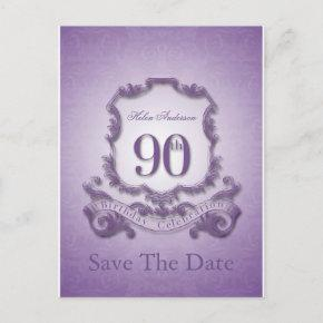 Save the Date 90th Birthday Personalized PostInvitations