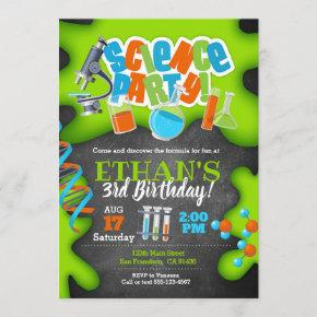 Science Birthday Invitation for Science Party