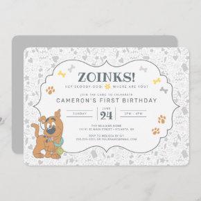 Scooby-Doo First Birthday Invitation