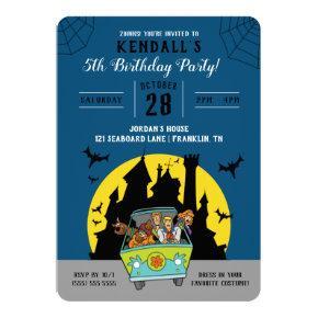Scooby-Doo Spooktacular Halloween Birthday Invitation