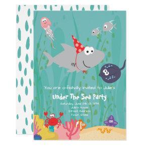 Sealife / Aquarium Birthday Invitation