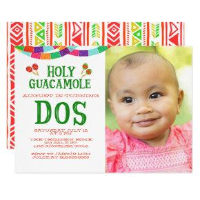 SECOND BIRTHDAY FIESTA - PHOTO - DOS Invitations