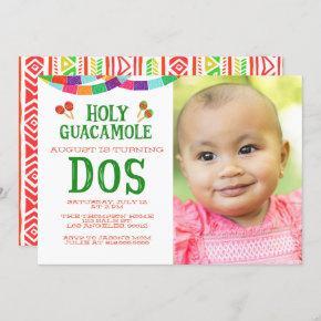 SECOND BIRTHDAY FIESTA - PHOTO - DOS INVITATION