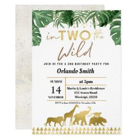 Second Birthday Invitation Into Two The Wild