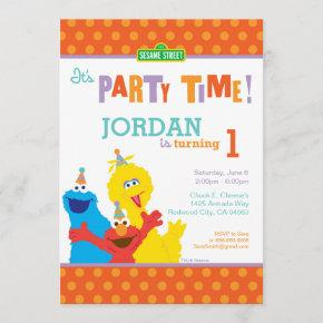 Sesame Pals Birthday Invitation
