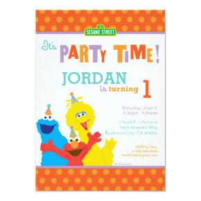 Sesame Pals Birthday Invitations