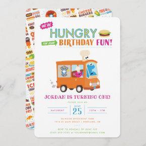 Sesame Street | Cookie Monster Food Truck Birthday Invitation
