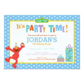 Sesame Street | Elmo - Birthday Cupcake Invitations