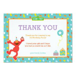 Sesame Street | Elmo - Confetti Birthday Thank You Invitation