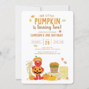 Sesame Street - Elmo | Pumpkin 2nd Birthday Invitation
