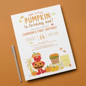 Sesame Street - Elmo | Pumpkin First Birthday Invitation
