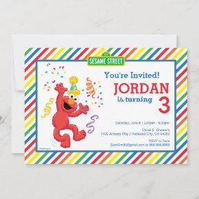 Sesame Street | Elmo - Rainbow 3rd Birthday Invitation