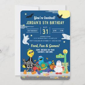 Sesame Street Halloween Birthday Party Invitation