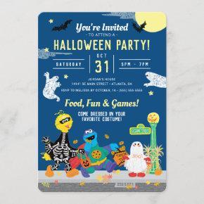 Sesame Street Halloween Party Invitation