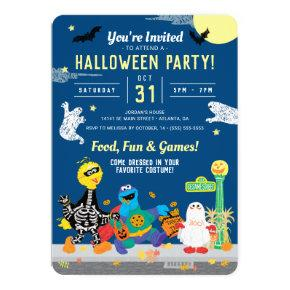 Sesame Street Halloween Party Invitation