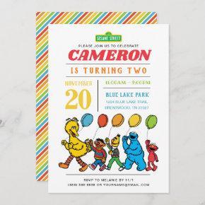 Sesame Street Pals | 2nd Birthday Balloons Invitation