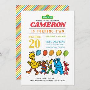 Sesame Street Pals | Balloons Birthday Invitation