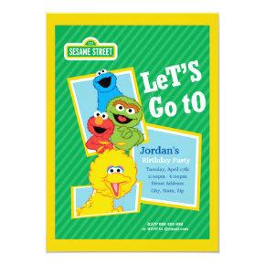 Sesame Street Pals Birthday Invitation