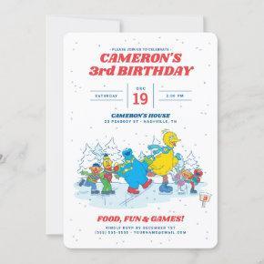 Sesame Street | Winter Birthday Party Invitation