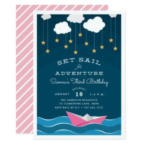 Set Sail | Kids Birthday Party Invitation