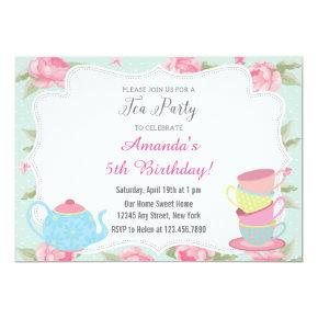 Shabby Chic Tea Party Invitations