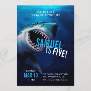 Shark Attack | Ocean Invitation Boys Birthday