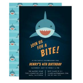 Shark Bait Birthday Party Invitation