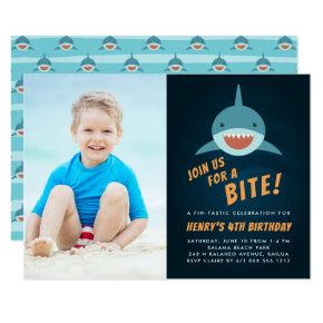 Shark Bait | Birthday Party Photo Invitation