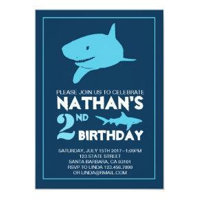 Shark Birthday Invitations for Boy