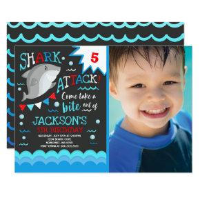 Shark Birthday Invitations Shark Pool Party
