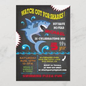 Shark Birthday Swimming Party