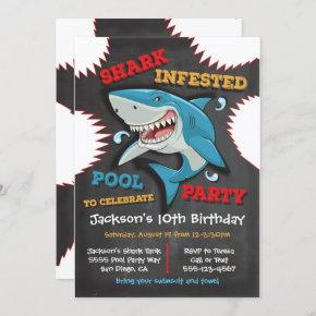 Shark Birthday Swimming Pool Party