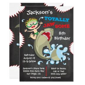 Shark Birthday Swimming Pool Party