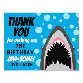Shark Birthday Thank You Card