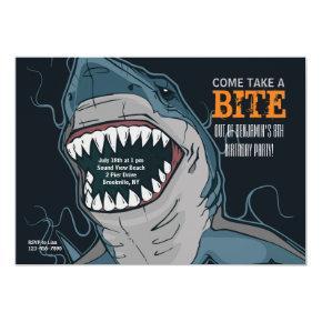 Shark Bite Invitations