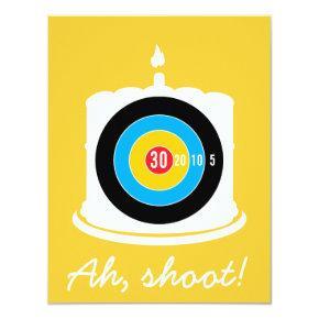 Sharpshooter 30th Birthday - Ah Shoot! Invitation