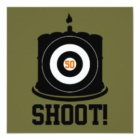 Sharpshooter's 50th Birthday - Hunting Invitation