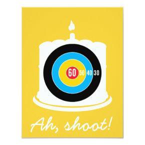 Sharpshooter's 60th Birthday - Target Invitation