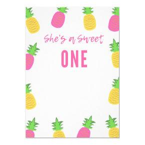 She's A Sweet ONE - 1st Birthday Party Invitation