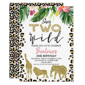 She's Two Wild Second Birthday Invitation