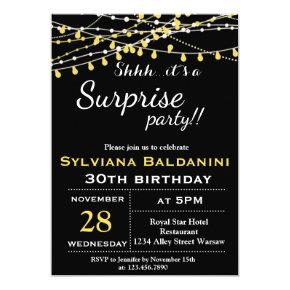 SHHH…ITS A SURPRISE PARTY!… BIRTHDAY Invitations