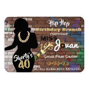 Shorty's 40 Hip Hop Birthday Brunch Invitations