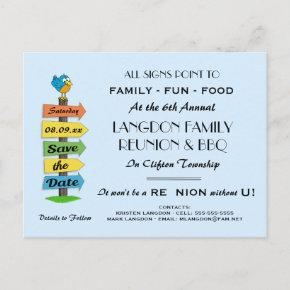 Signpost Save the Date Reunion, Party or Event Announcement Post