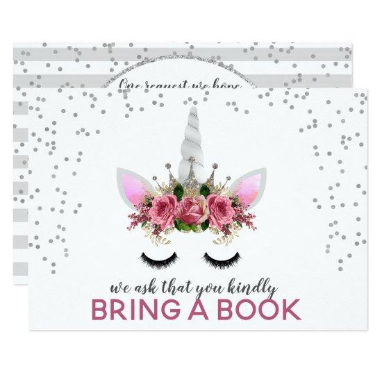 Silver Glitter Unicorn Princess Bring A Book