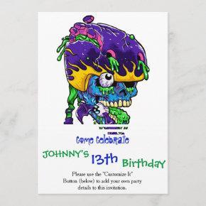 Skater zombie. invitation