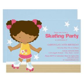 Skating Party | African American girl Invitations