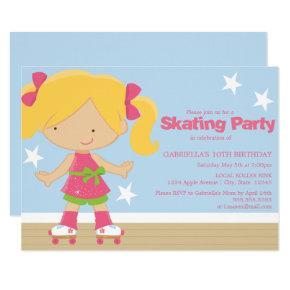 Skating Party   Birthday Party Invite