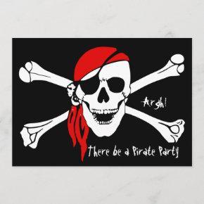 Skull and Cross Bones Invitation