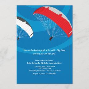 Skydiving Invitation